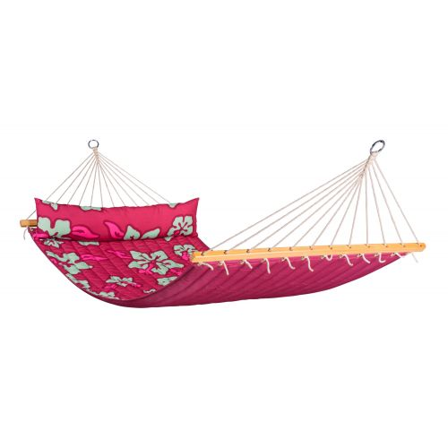 Hawaii Hibiscus - Quilted Double Spreader Bar Hammock