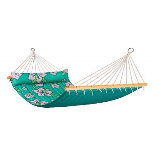 Hawaii Palm - Quilted Double Spreader Bar Hammock