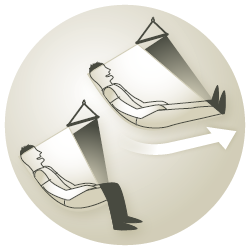 Illustration: How To Use a Hanging Chair - LA SIESTA