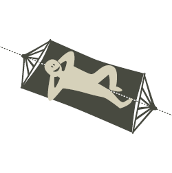 Illustration: How To Lie in a Spreader Bar Hammock - LA SIESTA